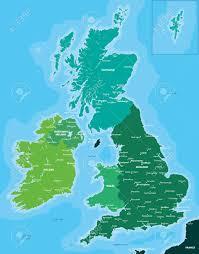 Britain Map Color Map Of Great Britain And Ireland Lizenzfrei Nutzbare