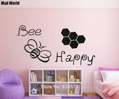 bee wall art promotion shop for promotional bee wall art on mad world bee happy bumble bee silhouette wall art stickers wall decal home diy decoration removable room decor wall stickers