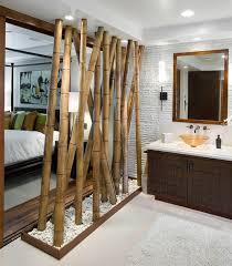 chambre exotique déco cloison exotique entre chambre et salle de bain la déco d