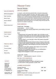 Welder Resume Sample by Social Media Resume Coordinator Specialist Example Sample Pr