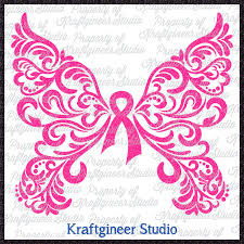 butterfly on cancer ribbon clipart clipground