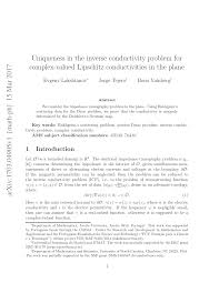 uniqueness in the inverse conductivity problem for complex valued