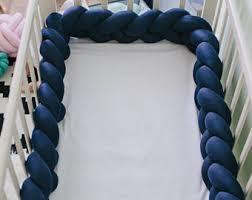 braided blush crib bumper braided cot bumper knot pillow