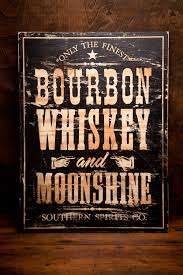 bourbon sign wooden bourbon whiskey and moonshine sign great for the cave