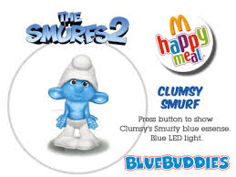 asia mcdonalds smurfs 2 figures 10 clumsy smurf 11 party planner