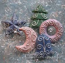 plaster of ornaments pastel colored shapes i