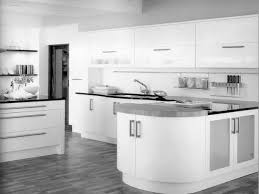 Kitchen  Minimalist Kitchen Cabinets For Modern Home Design Ideas - Contemporary white kitchen cabinets