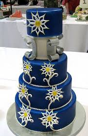 elegant navy blue wedding cakes wedding decorate ideas