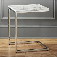small marble top table smart marble top side table reviews cb2