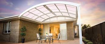 Clear Patio Roofing Materials by Curved Roof Patios Hitec Patios Builder Sydney