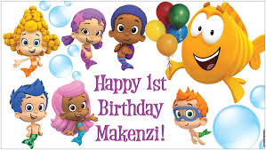 guppies birthday party custom vinyl guppies birthday party banner decorations with