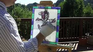 faux stained glass art with glass paint youtube