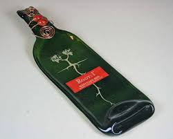 flattened wine bottle platter melted wine bottle slumped wine bottle slumpedroot heritage