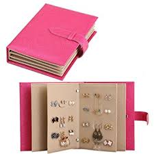 book of earrings esdrem earring holder book leather book of earrings storage