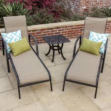 Lounge Patio Furniture Set - madison bay 3 piece sling patio chaise lounge set by lakeview