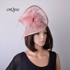 hair accessories melbourne 20 colours blush mauve pink sinamay fascinator hat with feather