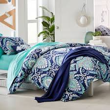 Teal Duvet Cover Deco Medallion Duvet Cover Sham Pbteen
