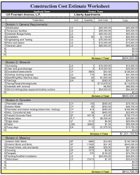 Microsoft Excel Quote Template Construction Estimate Template Free Microsoft Excel Sales