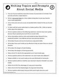 writing prompts for social mediaworksheets