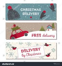 special christmas delivery vector illustration small stock vector