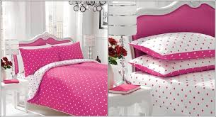Pink Bedding Sets Bedding Sets With Large And Small Dots