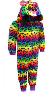 webundies ty beanie boos dotty multicolored leopard onesie