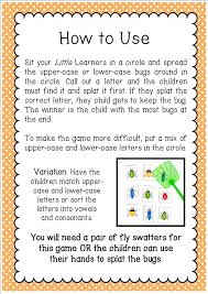 printable alphabet recognition games busy bug splat alphabet game little lifelong learners