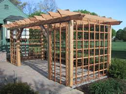 Pergola Designs With Roof by Garden U0026 Outdoor Wooden Pergola Plans On Brick Floor For Beutiful