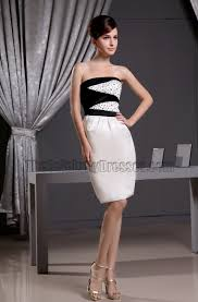 new style sheath short strapless cocktail dress party dresses
