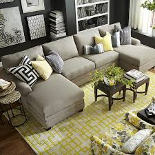 Comfortable Sectional Couches Living Room Comfortable Double Chaise Sectional For Excellent
