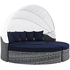 Daybed With Canopy Amazon Com Suncrown Outdoor Furniture Wicker Daybed With