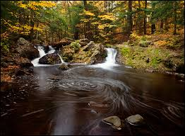 Michigan mountains images Greenstone falls waterfall porcupine mountains wilderness state jpg