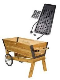 elevated cedar planter box and space maker pivoting trellis set 2