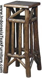 rustic bar stools rustic log and mission wood bar stools