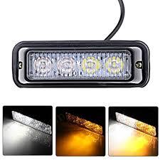 led lights for pickup trucks astra depot 4 led white amber waterproof emergency beacon flash
