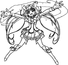 glitter force loving coloring page wecoloringpage