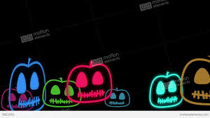 halloween background videos halloween animated background with cute little neon pumpkins stock