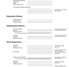 Printable Resume Template Blank Free Fill In The Blank Resume Resume Template And Professional