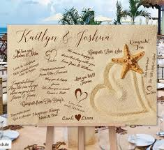 alternatives to wedding guest book wedding guest book alternative heart in the sand poster or