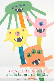 Halloween Crafts With Construction Paper Construction Paper Monster Puppets Easy Halloween Crafts For