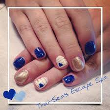 royal blue u0026 gold accent by traiseasescape from nail art gallery