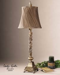 laurent french country leaf design buffet table lamp tuscan old