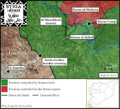 Syria Fighting Map by Relative Calm U0027 Fades In Syria U0027s South As Daraa City Fighting Roars
