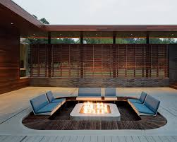 Modern Outdoor Patio by Eyecatching Modern Outdoor Fireplaces Turn The Patio Into A Along