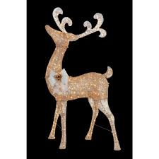 home accents holiday 91 in pre lit gold standing deer ty499 1511