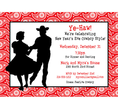 western hoedown invitation ye haw new year u0027s eve or any party