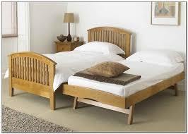 Twin Bed With Pull Out Bed Bedroom Wonderful Trundle Bed Twin Solid Wood With Storage For