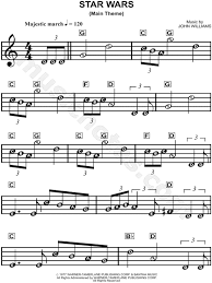 free printable sheet music for xylophone star wars main theme from star wars sheet music for beginners