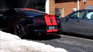 2014 Black Mustang 2014 Mustang Gt Coldstart Roush Axlebacks Resonator Delete