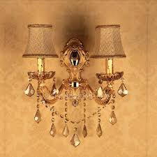 Crystal Candle Sconce 2 Light Wall Mounted Candle Sconces For Living Room